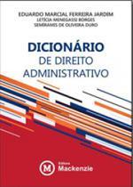 Dicionario de direito administrativo - Mackenzie -