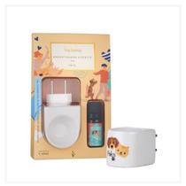Difusor Aromatizador Elétrico de Porcelana Pets Via Aroma com Óleo Essencial 10ml -