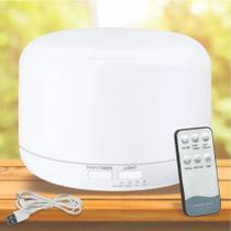 Difusor Elétrico Aroma Ultrassônico Com Led 500ml Branco Com Controle Remoto - TOP TOTAL