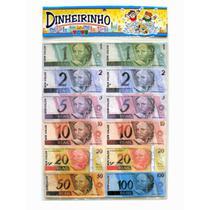 Dinheiro De Mentira Notas Brincar 1 2 5 10 20 50 E 100 Reais - Mini Toys
