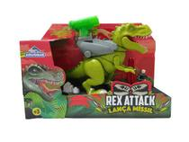Dinossauro Articulado Rex  Attack Lança Míssil  28 cm 0863 Verde Adijomar -