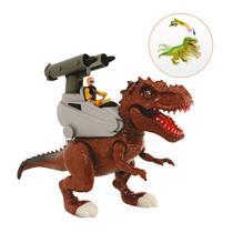 Dinossauro Attack Rex Grande 40 Cm Com Som Luz Lança Míssil - Adijomar