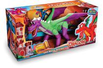 Dinossauro Dragão Com Asas Articuladas - Emite Som Adijomar -