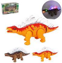 Dinossauro estegossauro com som e luz a pilha wellkids - Wellmix