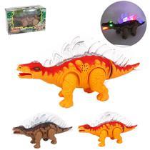 Dinossauro Estegossauro com Som e Luz a Pilha - Wellmix