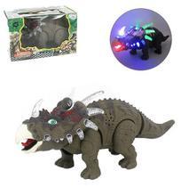 Dinossauro estiracossauro com som e luz a pilha na caixa wellkids - Wellmix