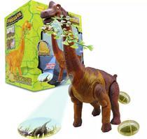 Dinossauro Mini Braquiossauro 35 cm Som Luz Movimento e imagem - Barcelona