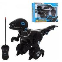Dinossauro Robo Com Controle Remoto T-Rex Com Som Robossauro - Makeda