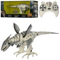 Dinossauro robo controle remoto robossauro 80cm 40 funções articulado e sensor de movimento e som - Makeda