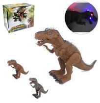Dinossauro t-rex colors com som e luz a pilha na caixa - Wellmix