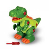 Dinossauro T-Rex Com Som e Rodinhas Na Caixa Maral -