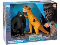 Dinossauro t-rex com som vs gorila king kong bee toys 653 -
