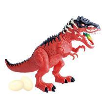 Dinossauro Tiranossauro com Som e Luz e Bota Ovo - DM Toys -