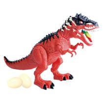 Dinossauro Tiranossauro Rex Anda Bota Ovos Com Som E Luz - Dm Toys