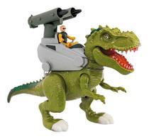 Dinossauro Tiranossauro Rex Attack Lança Míssil Safari 37cm Com Som - Adijomar