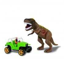 Dinossauro Tiranossauro Rex Com Jipe Safari - Adijomar -