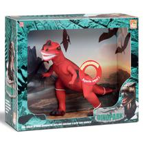 Dinossauro Tiranossauro Rex Grande  Cm C/ Som Menino Azul - Beetoys