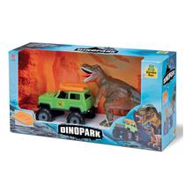 Dinossauro tiranossauro rex + jipe + bote sambatoys - Samba Toys