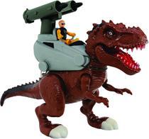 Dinossauro Tiranossauro Rex Lança Missil  Luz e Som Adijomar - Adijomar Brinquedos
