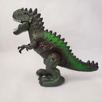 Dinossauro tiranossauro rex luz movimento som rugido preto - Tambem Tenho