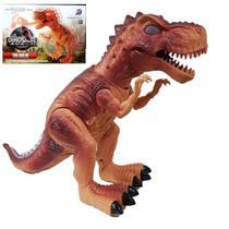 Dinossauro Tiranossauro Rex Movimento Luz 40 Cm Solta Fumaa - Toys