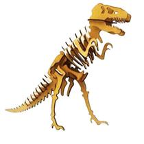 Dinossauro Tiranossauro Rex T-rex Quebra Cabeça 3D mdf - Genitori Laser
