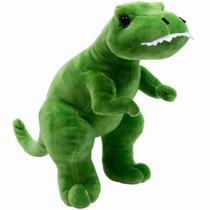 Dinossauro Tiranossauro Rex Verde 28cm - Pelúcia - Fofy Toys
