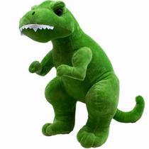Dinossauro Tiranossauro Rex Verde 41cm - Pelúcia - Fofy Toys