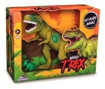 Dinossauro Tiranossauro Rex World C/Som 43cm Vinil Adijomar - Adijomar Brinquedos