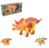 Dinossauro Triceratopes com Muito Realismo com Som e Luz - Wellmix