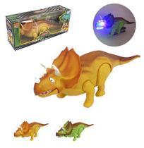 Dinossauro triceratops baby super poder colors com som e luz a pilha na caixa - Wellmix