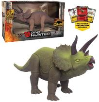 Dinossauro triceratops dino hunter colors com card - Welmix