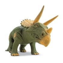 Dinossauro Triceratops Grande 36 Cm, Rinoceronte, Rex - BeeToys Brinquedos -