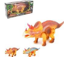 Dinossauro Triceratops Super Poder Colors Com Som E Luz A Pilha Na Caixa Wellkids - Art brink