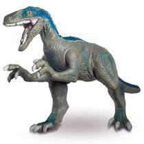 Dinossauro velociraptor blue gigante articulado vinil - jurassic world - Mimo