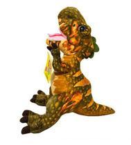Dinossauro Verde Tiranossauro Rex 40cm - Pelúcia - Fofy Toys
