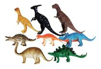 Dinossauros De Borracha Miniatura Kit Com 8 Dino World - Ausini