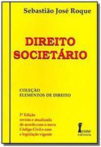Direito societario   colecao elementos do direito - Icone - Ícone -