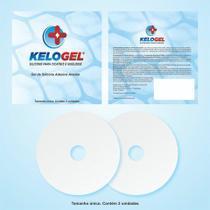 Disco areolar em gel  silicone para cicatriz mama 2un kelogel -