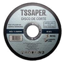 Disco Corte Fino Inox  4.1/2 pol 1mm Esmerilhadeira 115mm - Tssaper -
