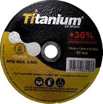 Disco Corte Fino Inox 4.1/2 X 1,0 Esmerilhadeira 100 Peças - Titanium