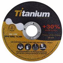 Disco corte fino inox 4.1/2 x 1,0 esmerilhadeira 100 peças titanium -