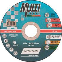 Disco de Corte Multicorte 115x1,0x22,23mm - Norton -