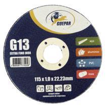 Disco De Corte Para Aço Inox Guepar 115 X 1 X 22Mm 10 Unid -