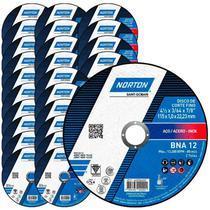 Disco de Corte para Metal e Inox 4.1/2 POL BNA 12 Kit com 25 Unidades NORTON -