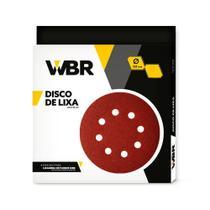 Disco de lixa 225 mm para lixadeira de parede e teto com 10 unidades - WBR -
