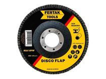 Disco De Lixa Flap 7 Pol 180Mm G80 Alúminio Ferro Aço Fertak -