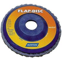 """Disco de lixa flap disc 7"""" reto - R822 (120) - Norton"""
