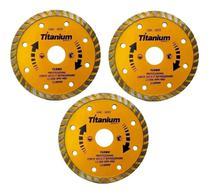 Disco Diamantado Concreto 4.1/2 110 X 22,2mm 3 Peças TITANIUM-5055-3 -