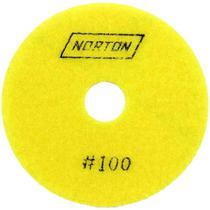 Disco diamantado para polimento brilho dagua g100 100mm norton -